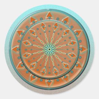Cadencia Stickers-20 del sudoeste por la hoja Pegatina Redonda