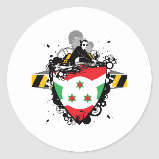 Cadera Burundi Pegatina Redonda