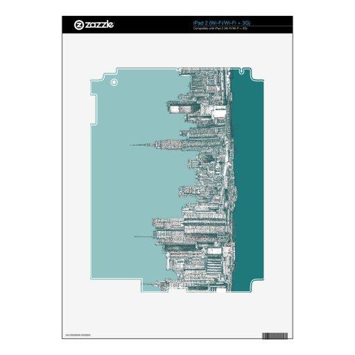 Cadera de Nueva York Calcomanías Para El iPad 2