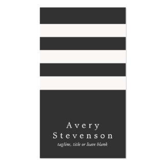 Cadera vertical moderna rayada blanco y negro fres