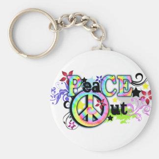 Cadera y paz maravillosa HACIA FUERA Llaveros Personalizados
