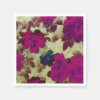 Caderas de rosas del vintage servilletas de papel