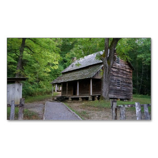 Cades Cove Cabin Business Card Magnet