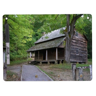 Cades Cove Cabin Dry Erase Board With Keychain Holder