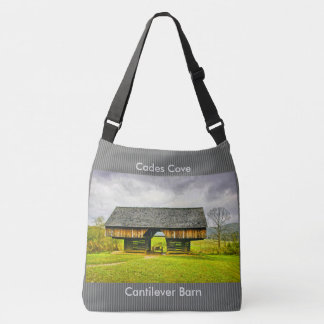 Cades Cove Cantilever Barn at the Tipton Place Crossbody Bag