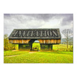 Cades Cove Cantilever Barn at the Tipton Place 5x7 Paper Invitation Card
