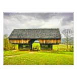 Cades Cove Cantilever Barn at the Tipton Place Photograph