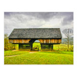 Cades Cove Cantilever Barn at the Tipton Place Postcard