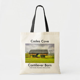Cades Cove Cantilever Barn at the Tipton Place Tote Bag