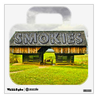Cades Cove Cantilever Barn at the Tipton Place Wall Decal