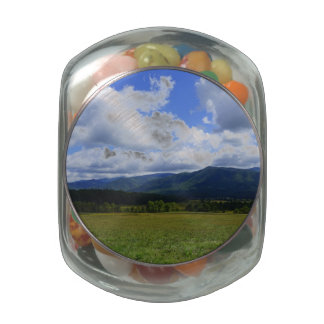 Cades Cove Glass Candy Jars