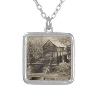 Cades Cove Grist Mill Silver Plated Necklace