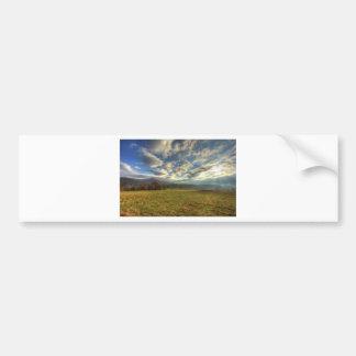 Cades Cove Morning Sun Rays Bumper Sticker