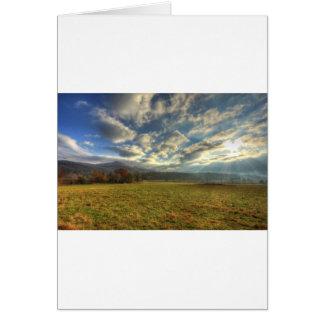 Cades Cove Morning Sun Rays Greeting Card