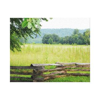 Cades Cove, Split rail fence, Smoky Mountains Canvas Print