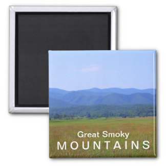 Cades Cove sunny day - Great Smoky Mountains Magnet