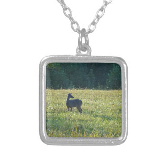Cades Deer Silver Plated Necklace
