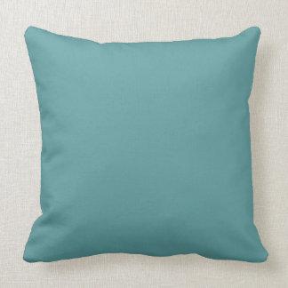 Cadet blue color background throw pillow