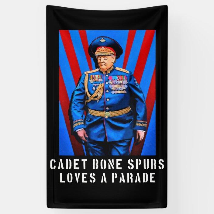 Cadet Bone Spurs - Trump Caricature Banner | Zazzle.com