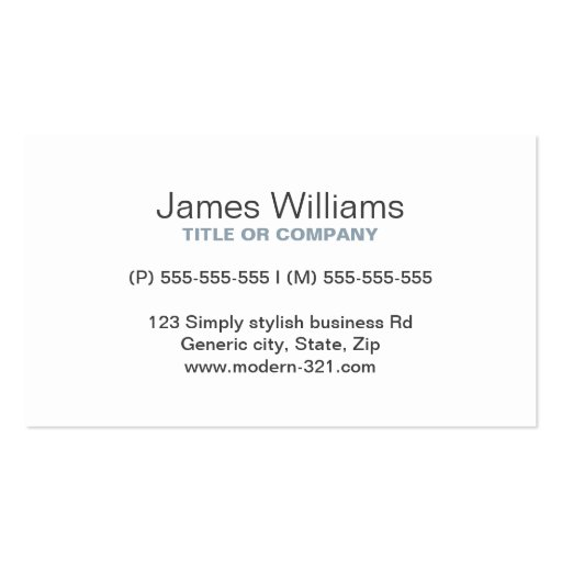 Cadet gray modern generic simple elegant personal business card template