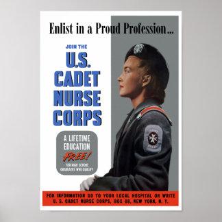 Cadet Nurse Corps -- WW2 Poster