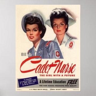 Cadet Nurse Print