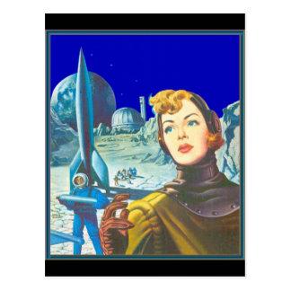 Cadete del espacio de la mujer postales