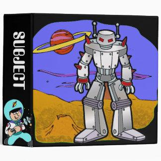 Cadete del espacio y carpeta de los robots