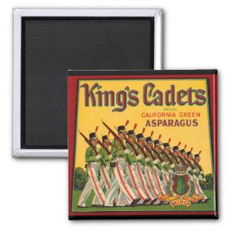 Cadets Asparagus Crate Magnet del vintage del KRW Imán Cuadrado