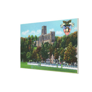 Cadets Marching to Parade Grounds Scene Stretched Canvas Print