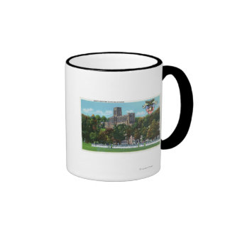 Cadets Marching to Parade Grounds Scene Ringer Coffee Mug