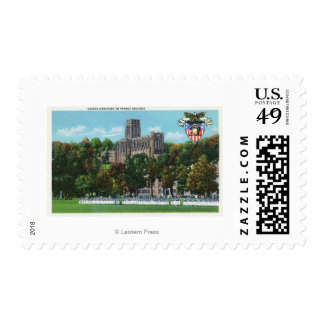 Cadets Marching to Parade Grounds Scene Stamp