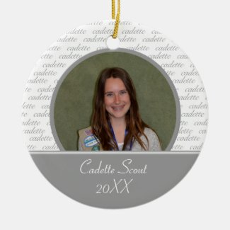 Cadette Scout Photo Ornament
