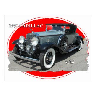 CADILLAC 1930 V/16 POSTCARD