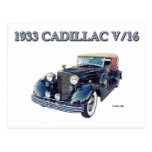 CADILLAC 1933 V/16 POSTAL