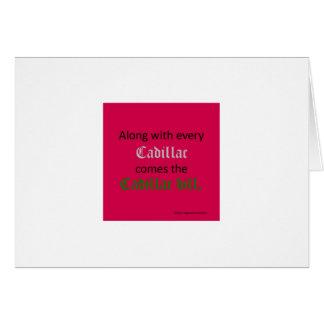 Cadillac Bill Card