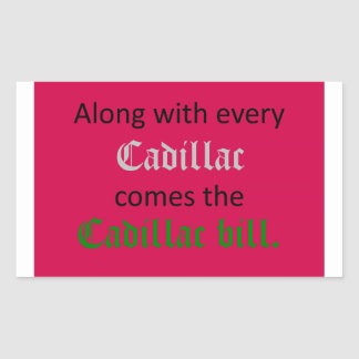 Cadillac Bill Rectangle Sticker