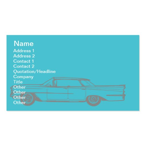Cadillac - Business Double-Sided Standard Business Cards (Pack Of 100)