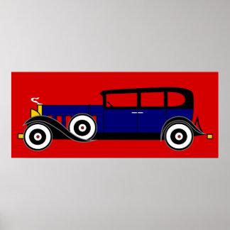 Cadillac de Al Capone 16 V - los años 20 del rugid Posters