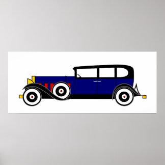 Cadillac de Al Capone 16 V - los años 20 del rugid Poster