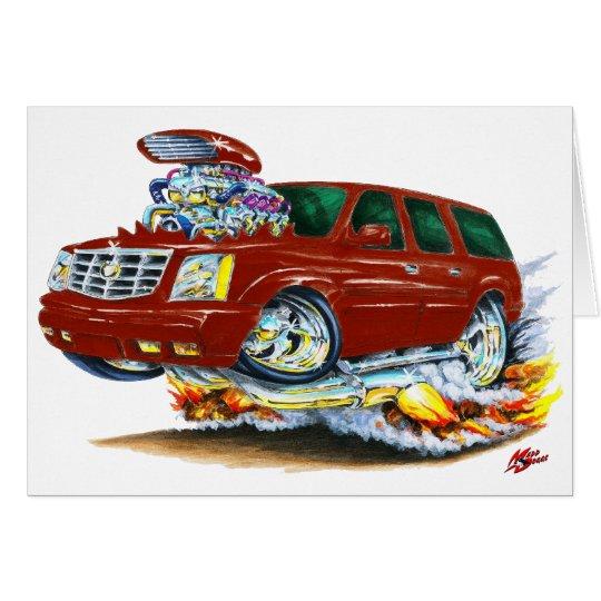 Cadillac Escalade Maroon Truck Card