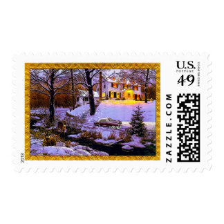 CADILLAC HOLIDAYS POSTAGE STAMPS