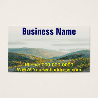 Cadillac Mountain in Fall, Acadia National Park Business Card