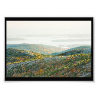 Cadillac Mountain in Fall, Acadia National Park Photo Print
