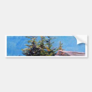 """Cadillac Mountain Spruce Tree"" Bumper Sticker"