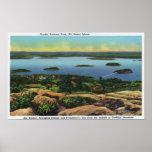 Cadillac Mt Summit View of Bar Harbor Print