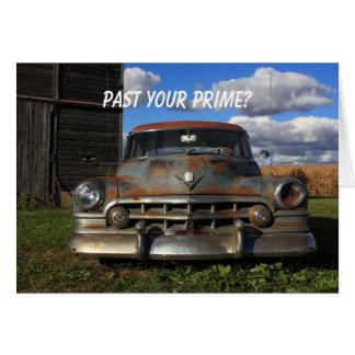 Cadillac oxidado 1950 tarjeta