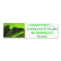 CADILLAC RANCH BUMPER STICKER