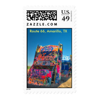 Cadillac Ranch Near Amarillo, TX Postage Stamps