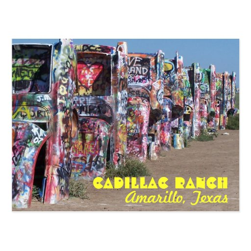 Cadillac Ranch Postcards